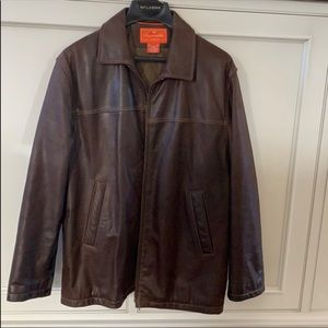 Faconnable Genuine Cowhide Leather Jacket